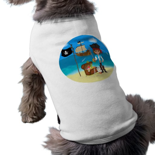 Boy Pirate with Treasure Chest Pet Clothing