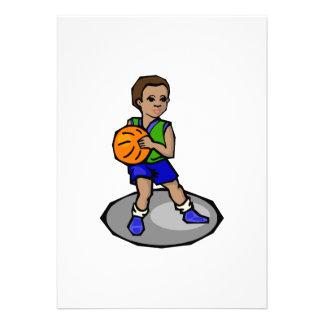 boy playing basketball invites