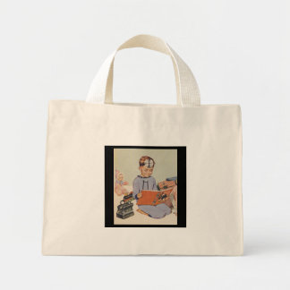Boy playing Doctor  - Retro Mini Tote Bag