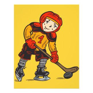 Boy Playing Hockey 21.5 Cm X 28 Cm Flyer