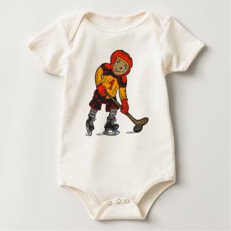 Boy Playing Hockey Baby Bodysuit