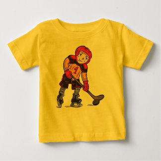 Boy Playing Hockey Baby T-Shirt