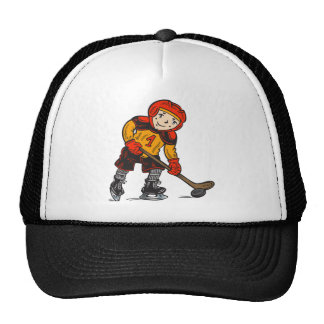 Boy Playing Hockey Cap