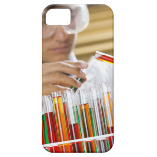 Boy pouring mixture from test tube iPhone 5 cover