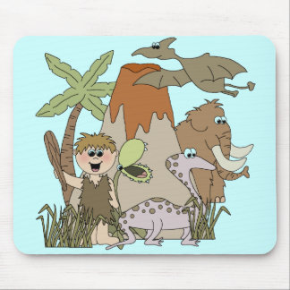 Boy Prehistoric Life Mouse Pads