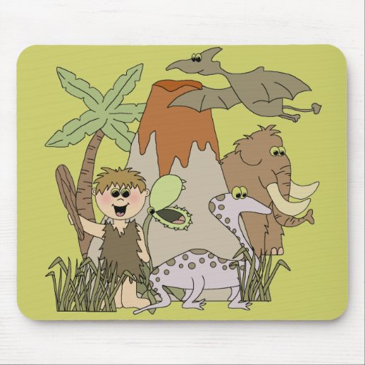 Boy Prehistoric LIfeTshirts and Gifts Mouse Pad