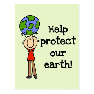 Boy Protect Our Earth T-shirts and Gifts Postcard
