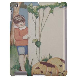 Boy Pumpkin Vine Jack O' Lantern Full Moon iPad Case