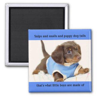 Boy Puppy Magnet