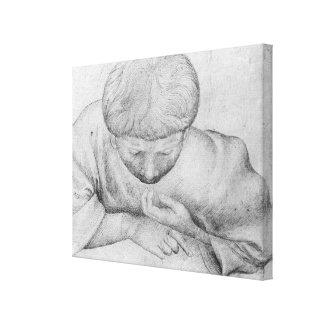 Boy reading, from the The Vallardi Album Canvas Print
