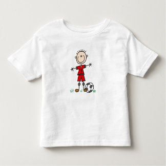 Boy Red Uniform Soccer Player T-shirts and Gifts