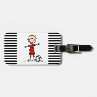 Boy Red Uniform Soccer Player T-shirts and Gifts Luggage Tag