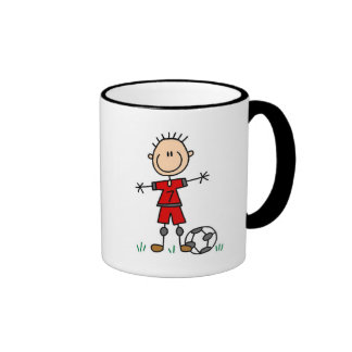 Boy Red Uniform Soccer T-shirts and Gifts Mugs