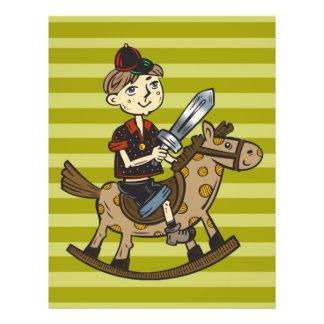 Boy Riding Rocking Horse 21.5 Cm X 28 Cm Flyer