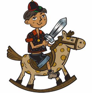 Boy Riding Rocking Horse Acrylic Cut Outs