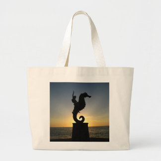 Boy Riding Seahorse Canvas Bag