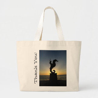 Boy Riding Seahorse; Thank You Jumbo Tote Bag