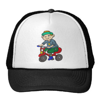 Boy Riding Tricycle Cap