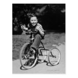 Boy Riding Tricycle Post Cards