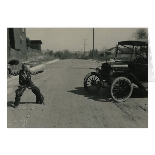 boy roped car card