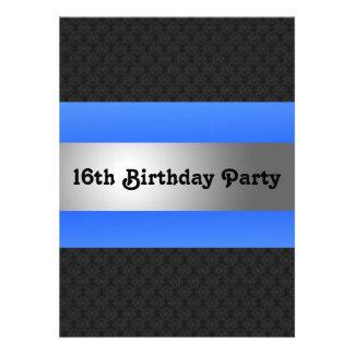 Boy s 16th Birthday Party Invite