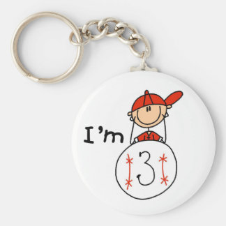 Boy s Baseball I m 3 Tshirts and Gifts Key Chain
