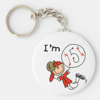 Boy s Baseball I m 5 Tshirts and Gifts Key Chains