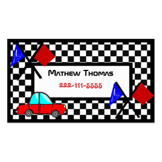 Boy s Racing Safety card Business Cards