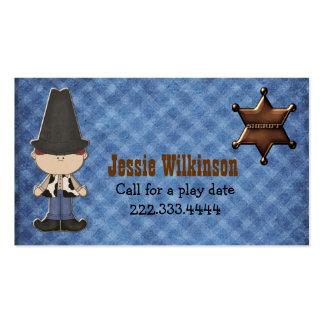 Boy s Western Theme Custom Playdate Card Business Cards