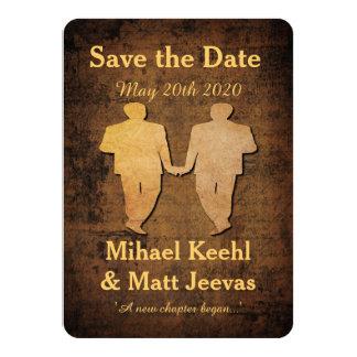 Boy Save the Date Card Gay Wedding 11 Cm X 16 Cm Invitation Card