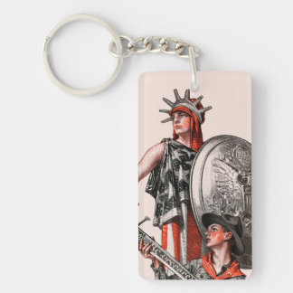 Boy Scout and Liberty Key Ring