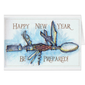 Boy Scout Knife New Years Card