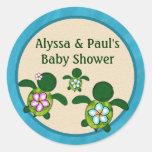 BOY Sea TURTLE Baby Shower (Honu) 02B blank #01 Stickers