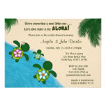 BOY Sea TURTLE Baby Shower Invite BLUE (Honu) 02B