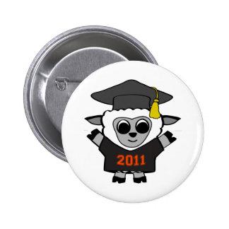 Boy Sheep Black & Orange 2011 Grad 6 Cm Round Badge