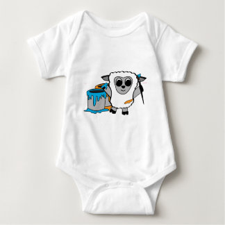 Boy Sheep Painting Fun Baby Bodysuit