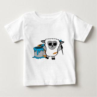 Boy Sheep Painting Fun T Shirt
