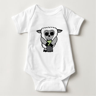 Boy Sheep with Cell Phone Infant Creeper