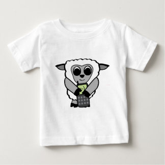 Boy Sheep with Cell Phone T Shirts
