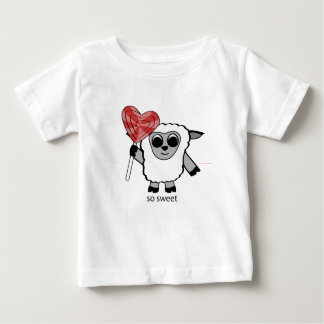 Boy Sheep with Heart Lollipop T Shirts