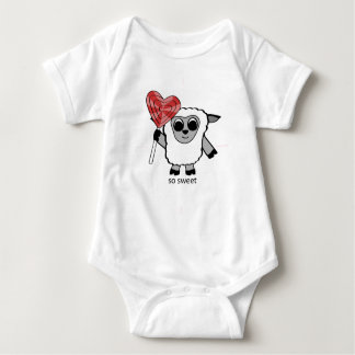 Boy Sheep with Heart Lollipop Tshirts