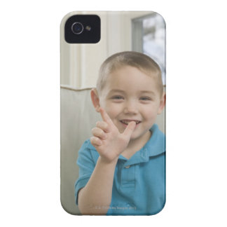 Boy signing the letter 'L' in American sign iPhone 4 Case-Mate Case