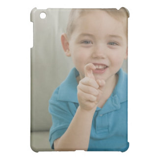 Boy signing the letter 'X' in American sign Case For The iPad Mini