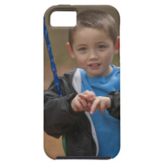 Boy signing the word 'Swing' in American Sign Case For The iPhone 5
