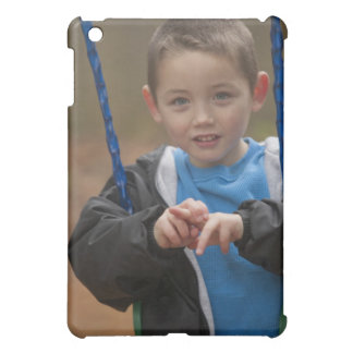 Boy signing the word 'Swing' in American Sign iPad Mini Cover