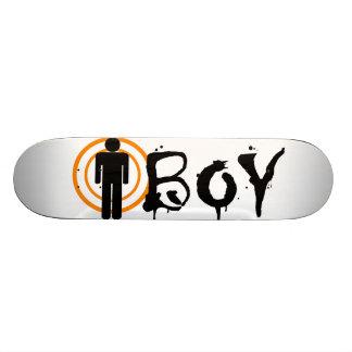 Boy skateboards