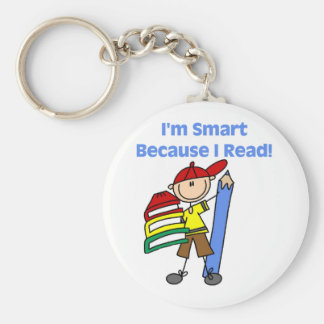 Boy Smart Because I Read Key Ring
