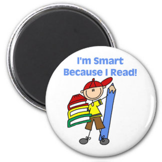 Boy Smart Because I Read Tshirts and Gifts 6 Cm Round Magnet