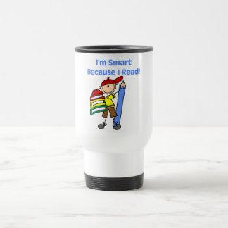 Boy Smart Because I Read Tshirts and Gifts Coffee Mug