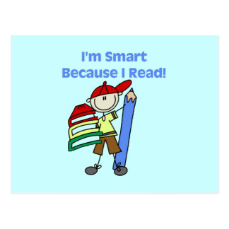 Boy Smart Because I Read Tshirts and Gifts Postcard